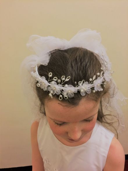 Daisy and Pearl First Holy Communion Veil